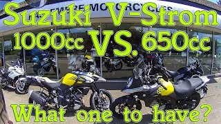 5. Suzuki V-Strom 1000cc vs. 650cc review