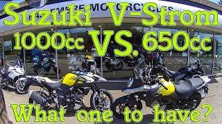 6. Suzuki V-Strom 1000cc vs. 650cc review