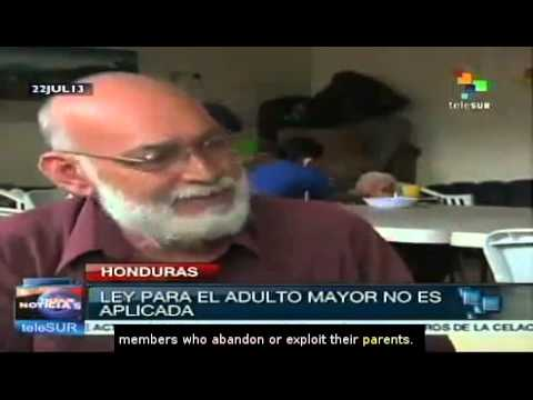 Increasing number of seniors on the streets in Honduras