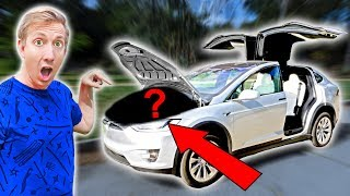 FOUND $10,000 MYSTERY BOX IN ABANDONED TESLA (Treasure Hunt Adventure Challenge)