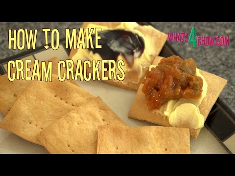 How To Make Cream Crackers - Delicious, Crispy Cream Crackers Made With Real Cream!!!
