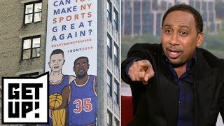 Stephen A. is appalled by the Knicks billboard recruiting Kevin Durant | Get Up!