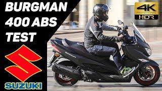 6. New 2017 SUZUKI Burgman 400 ABS Scooter TEST 4K