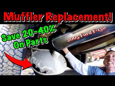 SAVE MONEY!! Fun Muffler Replacement on Ford F-150! How to save $ easily!