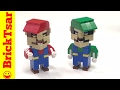 Mario and Luigi LEGO Cube Figures from Abbie Dabbles