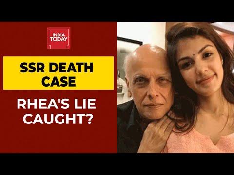 SSR Death Case: Rhea's Lie Caught? Actress Informed Mahesh Bhatt After Leaving Sushant's house