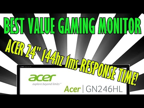 BEST VALUE GAMING MONITOR 2016/17 - Unboxing + Game test review