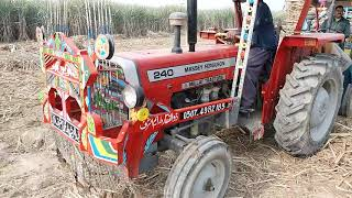 MF 260 AND MF 240 WITH HEAVY LOAD OF SUGERCANE IN PAKISTAN