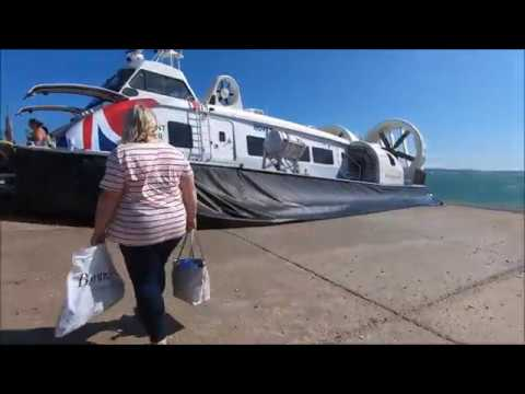 Hovertravel Hovercraft Journey - Southsea To Ryde Isle Of Wight - June 2019 | kittikoko