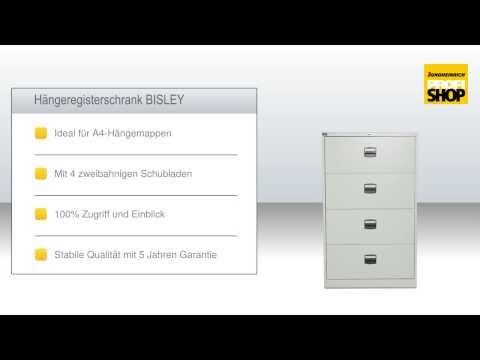 Hängeregisterschrank BISLEY für A4-Mappen zweibahnig