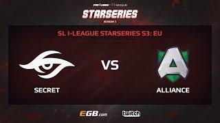 Team Secret vs Alliance, Game 1, SL i-League StarSeries Season 3, EU