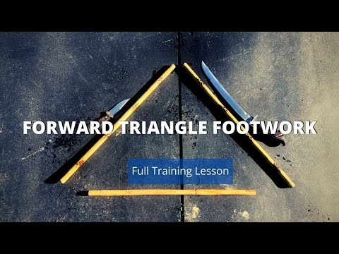 Forward (Male) Triangle Footwork FULL LESSON - Kali Escrima Arnis