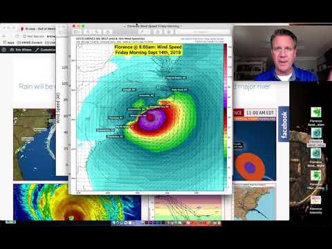 Florence Hurricane North Carolina, South Carolina timing & impact