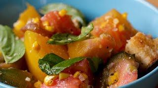 Tomato And Corn Panzanella • Tasty by Tasty