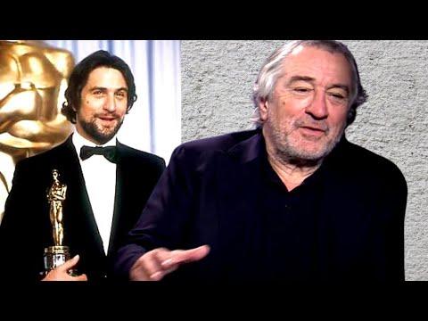 ROBERT DE NIRO remembering his Oscar win for Raging Bull in very few words...