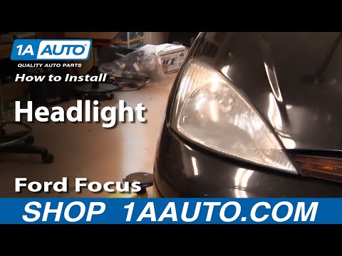 How To Repair Install Replace Headlights on Ford Focus 00-02 1AAuto.com