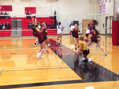 Betsy Knutson-Keller Capital High School Volleyball Highlights, 2017.