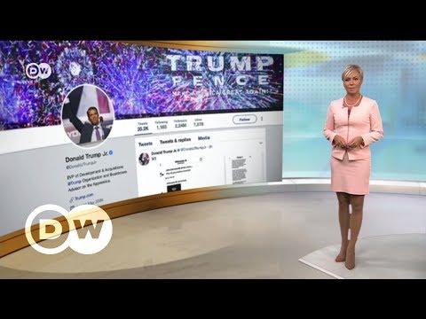 Сын Трампа опубликовал тайную переписку c Wikileaks - DW Новости (14.11.2017) (видео)
