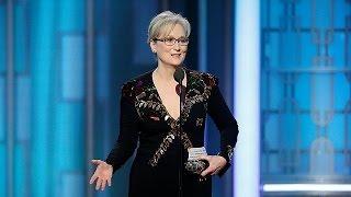 """GOLD - USD Meryl Streep """"aponta baterias"""" a Trump nos Globos de Ouro"""