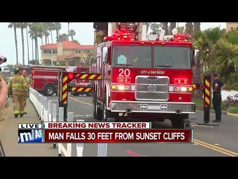 Man injured in fall at Sunset Cliffs