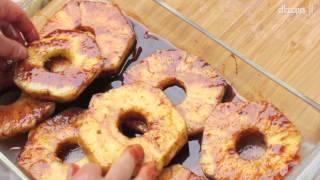 Ananas z grilla - przepis