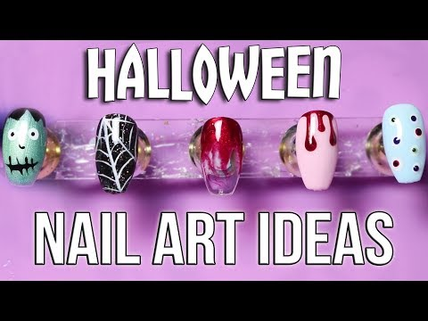 5 Easy Halloween Nail Art Designs!