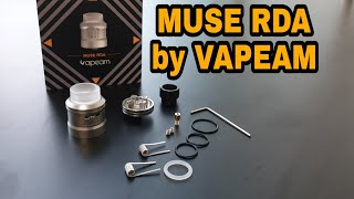 Video REVIEW MUSE RDA by Vapeam MP3, 3GP, MP4, WEBM, AVI, FLV Desember 2018