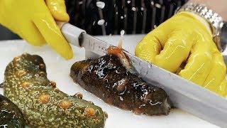 Video Korean Street Food - SEA CUCUMBER Seafood Korea MP3, 3GP, MP4, WEBM, AVI, FLV November 2018