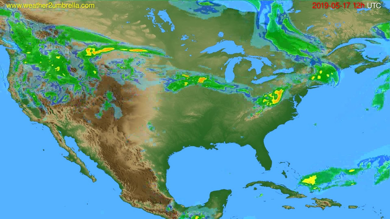 Radar forecast USA & Canada // modelrun: 00h UTC 2019-05-17