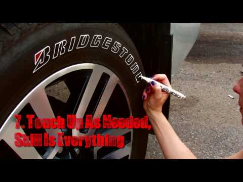 How to Paint Tire Letters | Tire Penz Instructions | How to Apply | Tire Lettering Paint