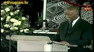 South African Former President Thabo Mbeki Speaks At Funeral Service For Ethiopian PM Meles Zenawi