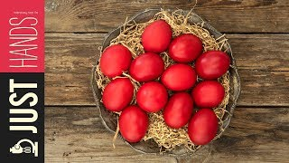 Red Easter eggs   Akis Kitchen by Akis Kitchen