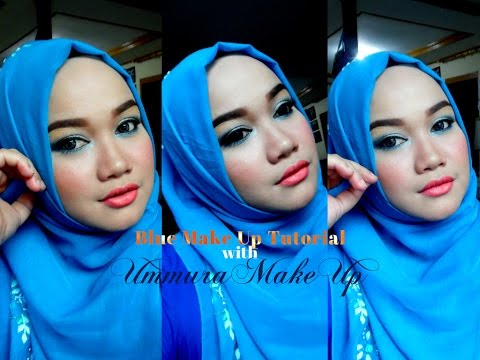 One Brad Tutorial with WARDAH | Glam Blue Make up Tutorial | Ummura Make up