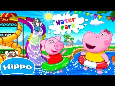 Jogos de meninas - Hippo  Water Park  Fun Water Slides  Jogo de desenhos animados para