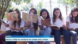 Projeto em escola de Bariri faz alunos passarem mais tempo com livros do que no celular