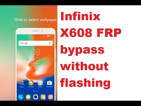 Infinix X608 Android 8 0 1 Google account Reset and FRP Bypass