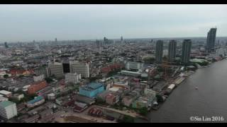 Bang Rak Thailand  City new picture : Chaophraya River View Drone Footage around Bangrak, Bangkok, Thailand