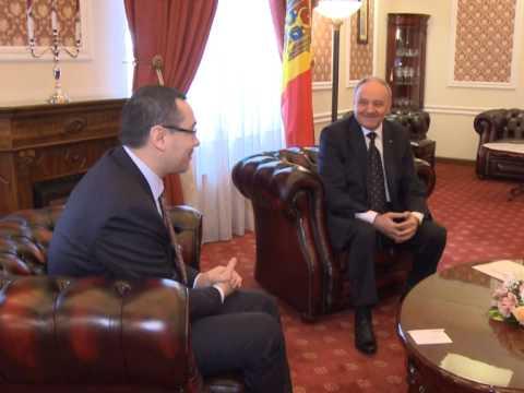 Президент Николае Тимофти встретился с премьер-министром Румынии Виктором Понтой