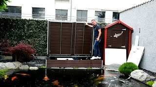 Irgendwo muss die gigantische Wasserqualität an Volkers und Robins Musterkoiteich ja herkommen. Betrachten wir uns den Filter etwas genauer.Für Fragen oder Feedback: info@modern-koi.deKonishi Koifutter sowie wöchentliche Koiauktionen finden Sie unter: http://www.konishi-koi.com