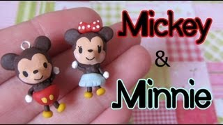 Mickey & Minnie Mouse Tutorial: Polymer Clay Charm Pair! - YouTube