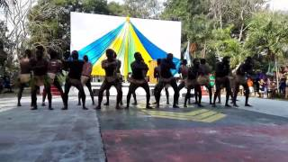 A traditional dance from the Solomon Islands performed during the 39th Solomon Islands Independence Celebration in Port...