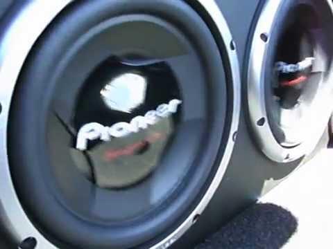 Par de Pioneer 308 D2 + Explosound 3600 Caixa 50Ltr - Carro Sedan / Siena 08 /