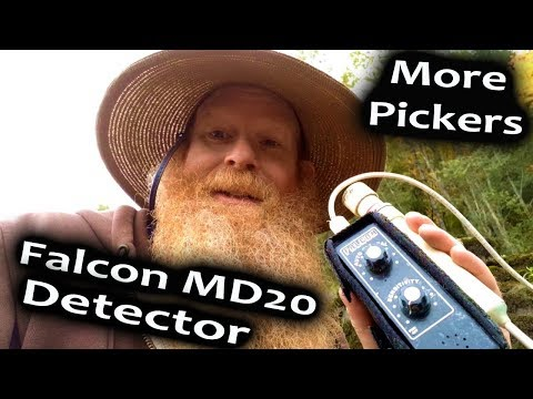 Falcon MD20, how to find gold on bedrock with a metal detector.