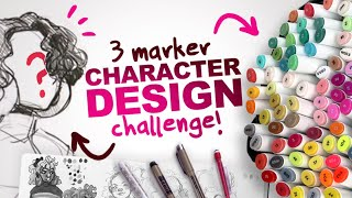 Video BUILDING a CHARACTER from ONLY 3 COLORS?! | 3 Ohuhu Marker Character Design Challenge MP3, 3GP, MP4, WEBM, AVI, FLV Juli 2019