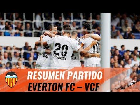 EL VALENCIA CF VENCE AL EVERTON FC CON DOBLETE DE RODRIGO Y GOLAZO DE WASS (2-3)