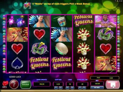 Festival Queens video slot - 2BY2 Gaming and Microgaming
