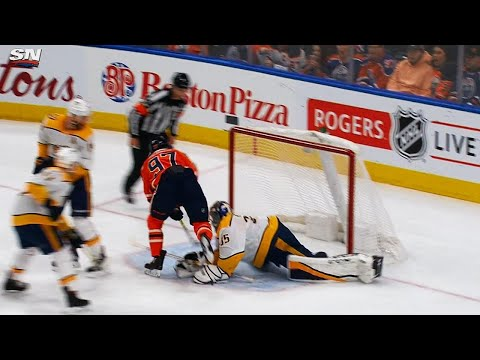 Video: McDavid scores 29th goal after 'neat little play' on Ekholm