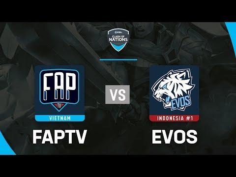 FAPTV vs EVOS - ESL Clash Of Nations 2019 - Garena Liên Quân Mobile - Thời lượng: 1:45:03.