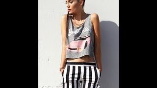 DIY how to make a no sew crop top - YouTube