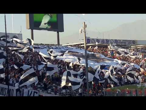 Colo Colo a la cancha / Salida de Colo Colo (0) Palestino (0) - Garra Blanca - Colo-Colo